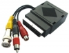 BNC Plug & Phono Plug to Scart Socket Adaptor