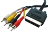 Scart Plug to 4x Phono Plug Lead