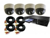 4 Super High Resolution Internal Colour Dome 480 TVL Cameras & E